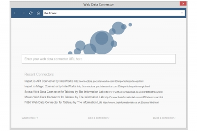 Web Data Connector - New features in Tableau 9.1